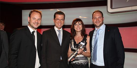 Wir werden mit dem Deutschen Gründerpreis ausgezeichnet.