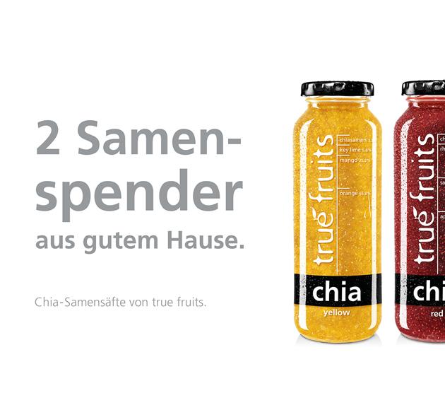 Plakatkampagne in Deutschland: Zur Einführung unseres neues Chiasamen-Saft Mehr Infos