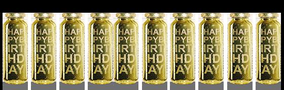 Im Juni feiern wir unseren 10. Geburtstag mit einer goldenen Flasche – die limited edition no. 8. Mehr Infos