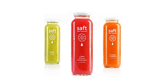 Wir entwickeln die Prototypen der Juices: Erdbeer-Orange, Apfel-Kiwi und Apfel-Birne-Himbeere.