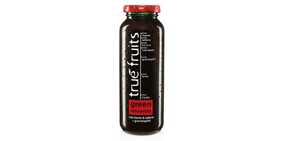 Und noch ein Grüner schafft es in die Kühlregale: der Green Smoothie no. 3 mit Rote Beete, Sellerie und Granatapfel.